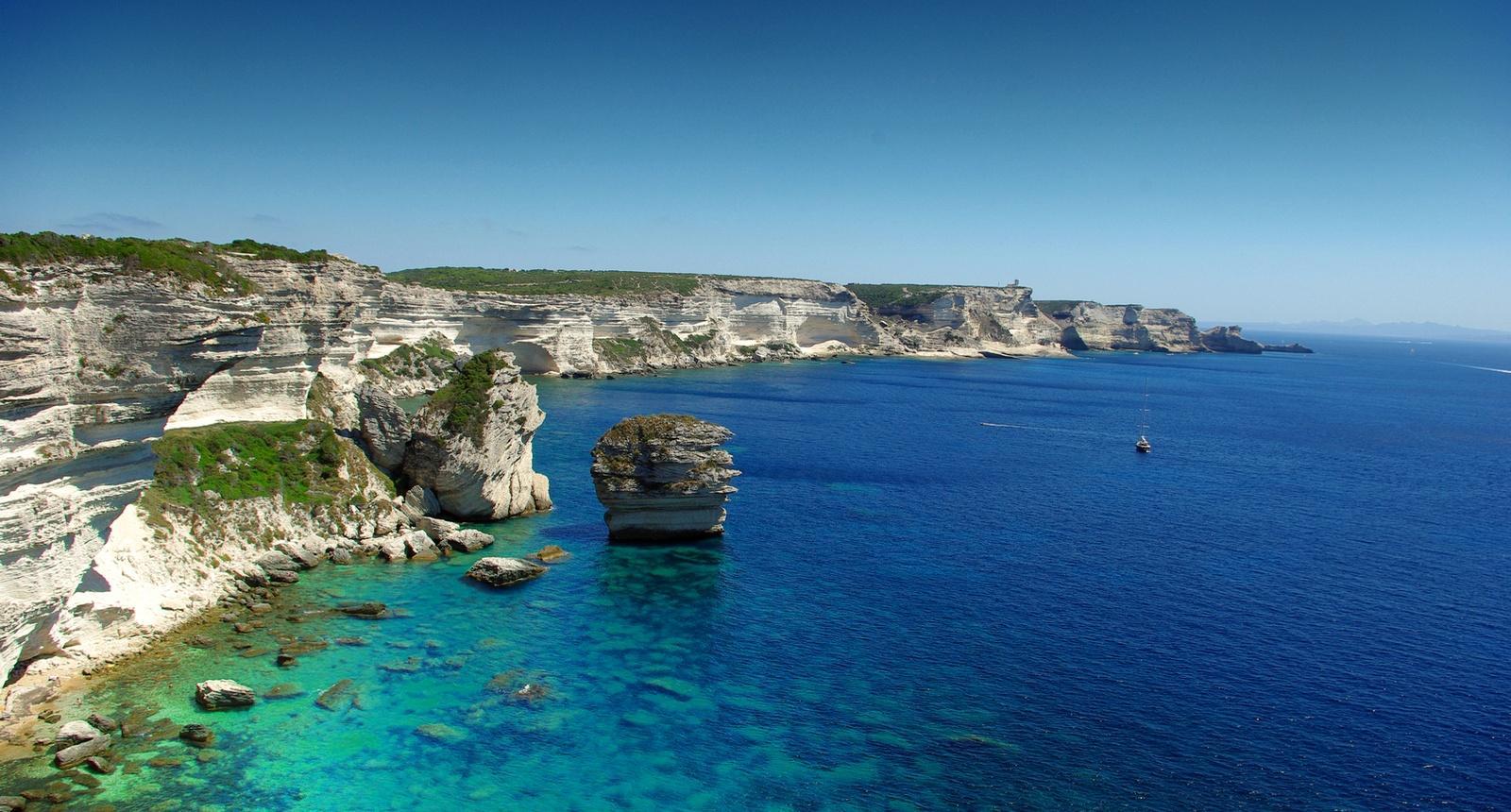 Les célèbres falaises de Bonifacio