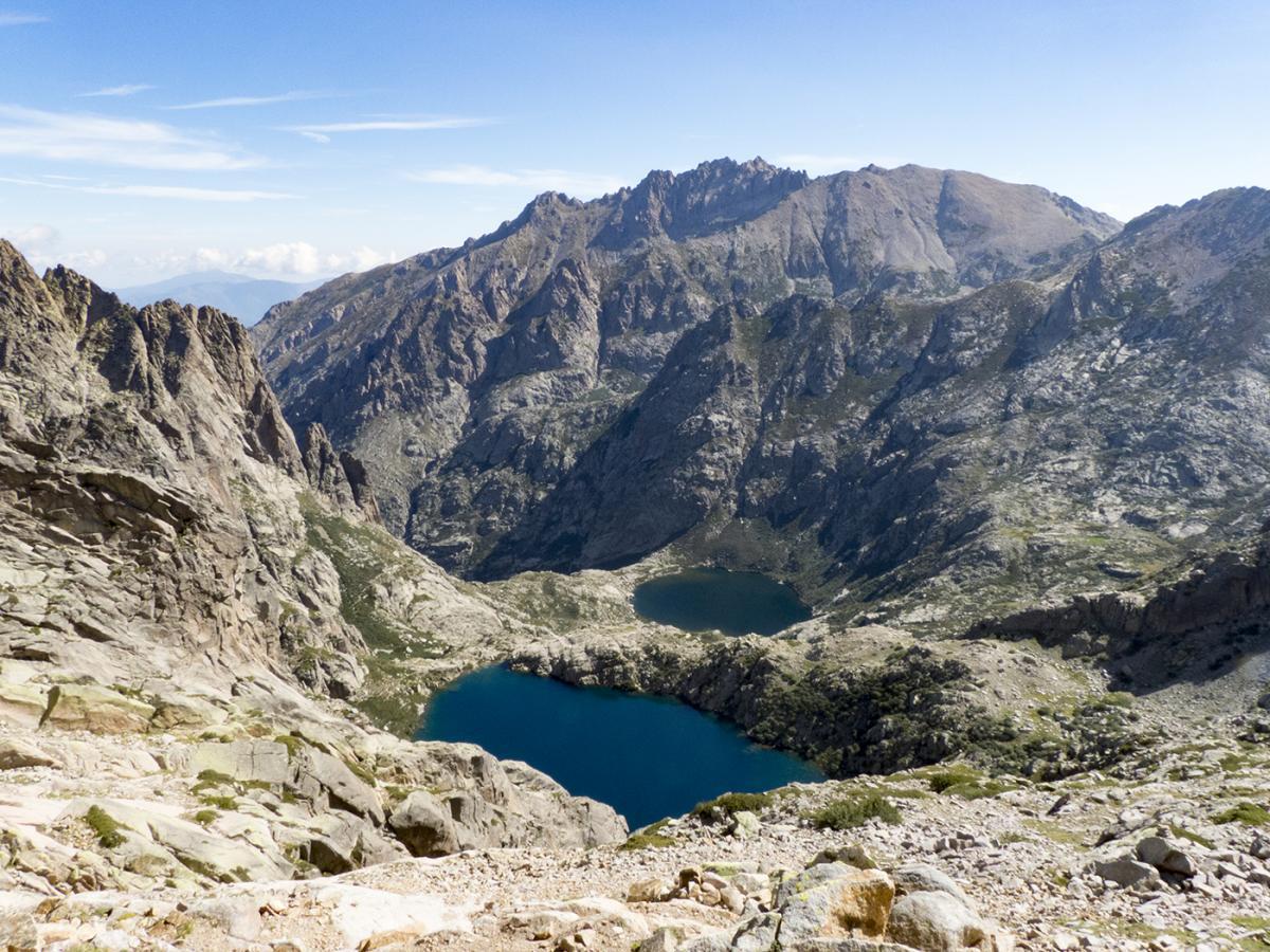 The lakes of Melo and Capitello above Corte