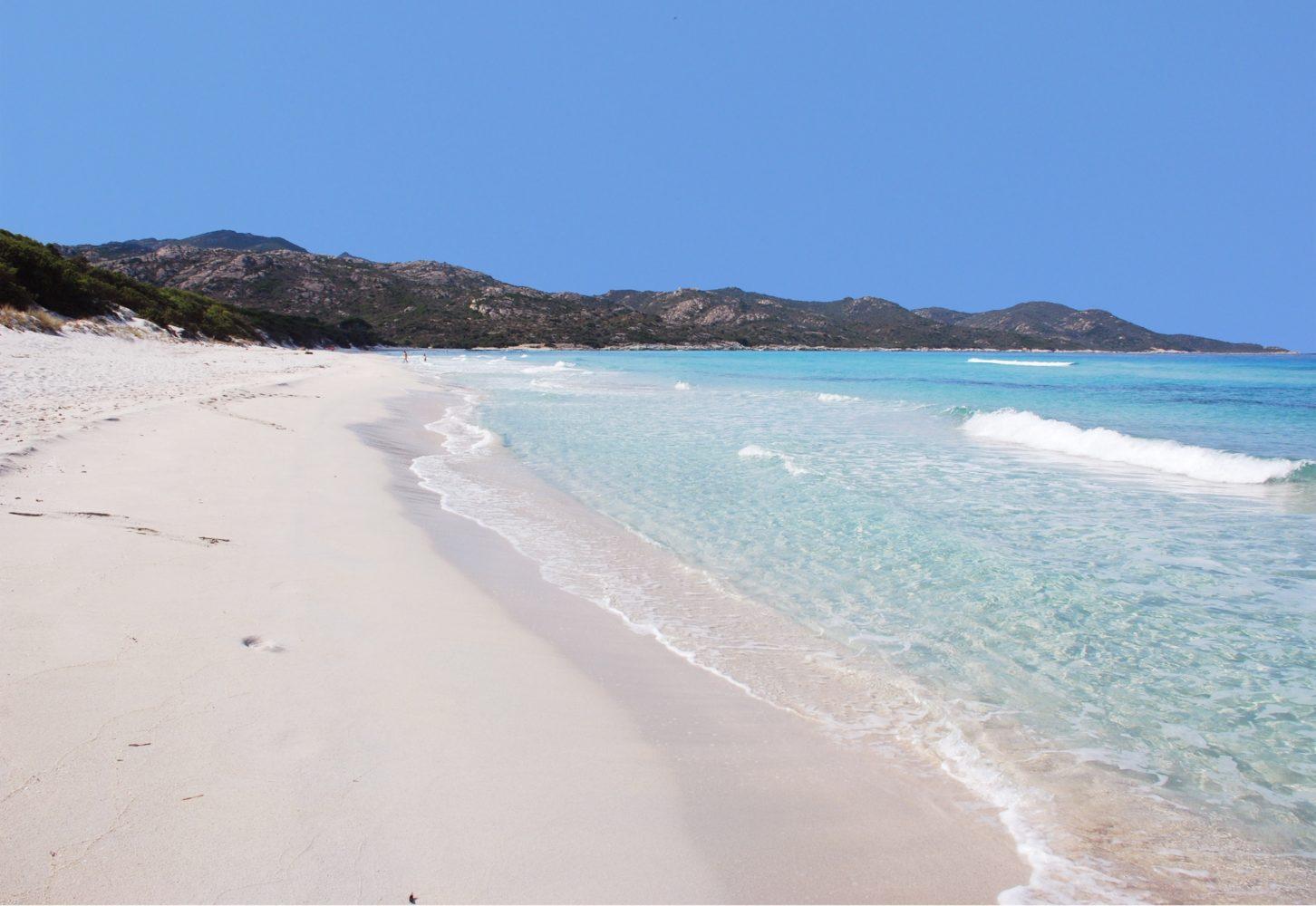 La plage de sable blanc de Saleccia à Saint Florent